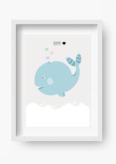 """Kinder+Poster+""""Mr.+Ozean""""+(Kinderzimmer+Bild)+von+fabeltal+auf+DaWanda.com"""
