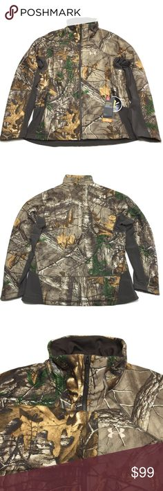 9656d0f68a529 Under Armour Hunting Jacket Under Armour Hunting Jacket Camo Storm Mid  Season Coat Women Size: