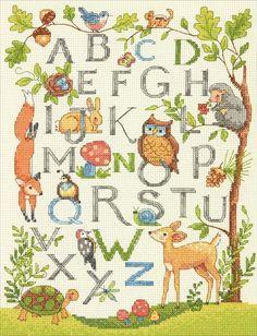Dimensions - Woodland Alphabet - CrossStitchWorld