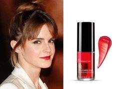 """【セレブの自腹買いコスメ】 #エマ・ワトソン =『ボディショップ』の""""Red Pomegranate Cheek""""と""""Lip Stain"""" http://www.elle.co.jp/beauty/pick/celebrity-makeup-product_18_0118/4 @ellejapanさんから"""