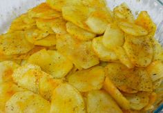 Polenta, Snack Recipes, Snacks, Sweet Potato, Microwave, Carrots, Chips, Potatoes, Vegetables