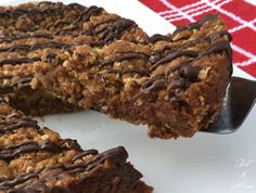 ANZAC Slice with Caramel Filling - Just A Mum