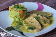 Bravčové rezne naprírodno, kôprová dijon omáčka a brokolicové zemiaky