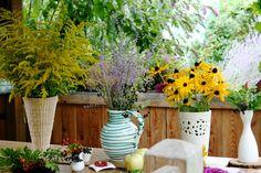 Herbst DIY Blumengesteckte
