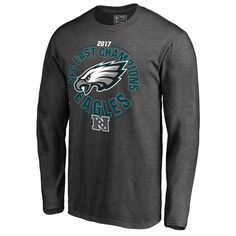 Philadelphia Eagles NFL Pro Line by Fanatics Branded 2017 NFC East Division  Champions Long Sleeve T-Shirt – Heather Charcoal 411883143