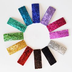Glitter Snap hair clips. Because everything is more fun with glitter.