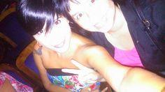 con mi amiga ....