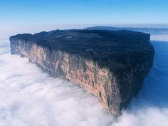 Mount Roraima at the triple border point between Venezuela, Brazil and Guyana.