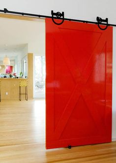 A splash of color!  Barn doors are so much fun.