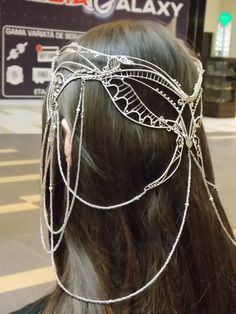 Arwen Tiara silver plated wire and swarowsky by LizzyTunc on Etsy