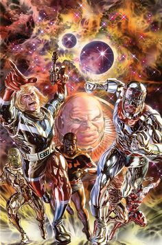 Kirby: Genesis #4 cover unlettered •Alex Ross