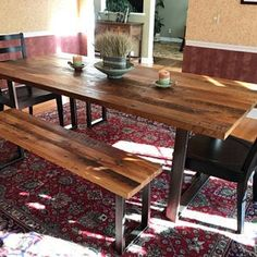 Media Console made from Reclaimed Wood / Industrial TV Stand / Modern Media Cabinet Reclaimed Wood Media Console, Reclaimed Wood Nightstand, Reclaimed Barn Wood, Industrial Tv Stand, Industrial Metal, Floating Media Shelf, Building Process, Rustic Office Desk, Modern Media Cabinets
