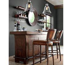 Pottery Barn - Fall 2016 Catalog - Page Interior, Home Bar Rooms, Home, Home Bar Designs, Game Room Bar, Home Bar Areas, Bars For Home, Living Room Bar, Home Bar Decor
