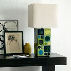 #West Elm                 #table                    #Lubna #Chowdhary #Tiled #Table #Lamp #Green        Lubna Chowdhary Tiled Table Lamp - Green                                      http://www.seapai.com/product.aspx?PID=321327