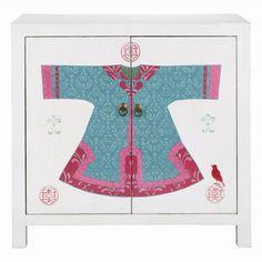 Cabinet enfant blanc - Jadeou customiser une commode avec des stickers djeco