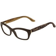 jimmy choo animal temple optical frame 15555 rub found on polyvore featuring accessories
