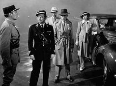 With Claude Rains, Paul Henreid, and Ingrid Bergman at the airport -  Casablanca (1942)