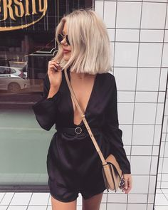 Chic Summer Outfits To Copy Now - Schulterlange Haare Ideen Short Blonde, Blonde Hair, Laura Jade Stone, Look 2017, Chic Summer Outfits, Sabo Skirt, Cut And Style, Bob Hairstyles, Short Summer Hairstyles