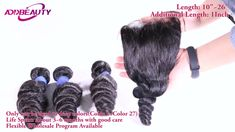 Add beauty 100% Human Virgin Hair Loose wave hair product