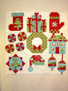 The first 9 blocks by A Quilting Jewel, via Flickr