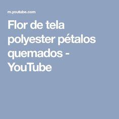 Flor de tela polyester pétalos quemados - YouTube