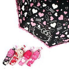 Hello Kitty Automatic Umbrella 3-Folding Cute Fashion Portable Compact Pink Girl #seongchangfng #CompactFolding