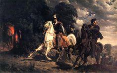 Artur Grottger (1837-1867). Ucieczka Henryka Walezego z Polski  [The Escape of Henry of Valois from Poland]