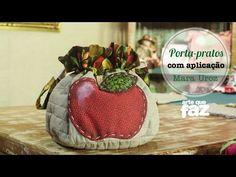 Porta-pratos com aplicação - Por Mara Uroz