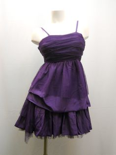 Nice Great Women PROM Dress SIZE S Purple Tulle Tired Ruffle Spaghetti Straps Clubwear  2017 2018 Check more at http://mydresses.gq/fashion/great-women-prom-dress-size-s-purple-tulle-tired-ruffle-spaghetti-straps-clubwear-2017-2018/