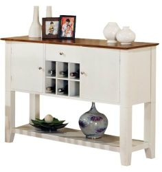 Harrison Server, White Accents by Addison Grace Home Decor. $439.00. White and Oak finish. Bottom shelf for extra storage. Wine storage for six (6) wine bottles. Felt-lined drawer. Solid Wood Construction. The Harrison Server is the perfect compliment to the Harrison Collection and offers ample storage. Save 24% Off!