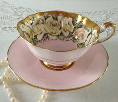 Rose Paragon china cup and saucer