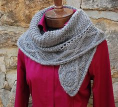 In the Snowden Shawl, garter stitch meets sweeping cables to create a luscious shawl warm enough for those cold winter days.#giftalong2014