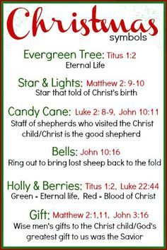 I will be teaching the children at my church about the symbols of Christmas on Sunday.   I want them to be able to have something to take h...