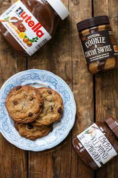 Salted Triple Chocolate Chip Cookies Stuffed with Nutella, Cookie Butter, and Cocoa Almond Spread @Lindsay Landis | Love and Olive Oil