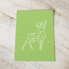 """Graphic animals """"Deer"""" Art prints - designed by Dieuwertje van der Linden"""