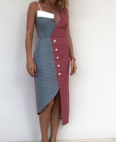 Playful in gingham Fashion Colours, Fashion Details, Fashion Design, Fashion Trends, Elegant Dresses, Casual Dresses, Fashion Dresses, Elisa Cavaletti, Style Haute Couture