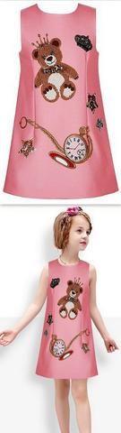 3D Print Clock & Teddy Bear Print Dress