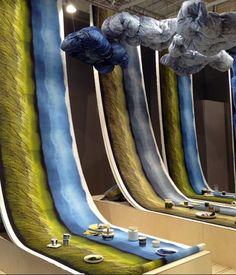 @kiitosmarimekko Cloud installation at Now! Maison&Objet Fall 2013 #textiledesign