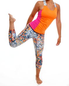 Our color blocking will slim your silhouette. Yogawear from people who care! #embraceprint
