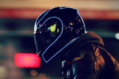 LightMode Electroluminescent Motorcycle Helmets