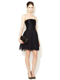 Chanel Black Strapless Silk & Lace Cocktail Dress <3  Little Black Dress Bridal Shower- What I want!!