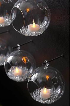 Whirly Glass Hanging Candles