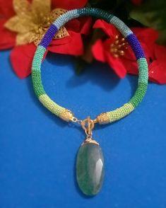 7bdab825a873  collar  tubular  verde  azul  dije  verde  moda  belleza