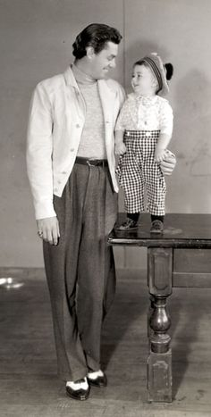 Spanky with Tarzan's Johnny Weissmuller.