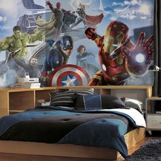 Avengers Age of Ultron Character XL Wall Mural - Wall Sticker Outlet