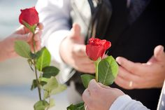 A rose ceremony is a great unity ceremony that incorporates your special guests into your wedding ceremony.