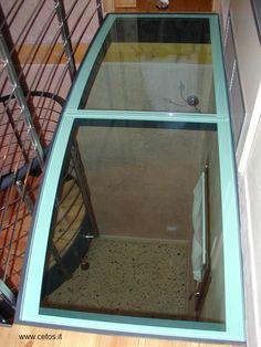 Soppalco in ferro e vetro