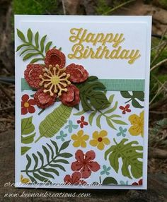 Keenan Creations: Botanical Blooms, Botanical Builder Framelits, Perfect Pairings, Botanical Gardens DSP  2016 Occasions catalog!