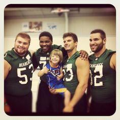 Northwest Missouri State University football volunteers at Special Olympics Missouri's Young Athletes Program
