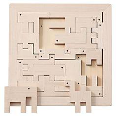 Muji wooden animal puzzle / 日本の木のおもちゃ_つみきパズル・どうぶつ 対象年齢:3歳以上・19ピース   無印良品ネットストア
